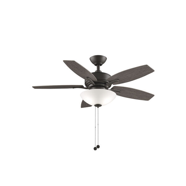 Aire Deluxe Matte Greige Two-Light LED Ceiling Fan, image 1