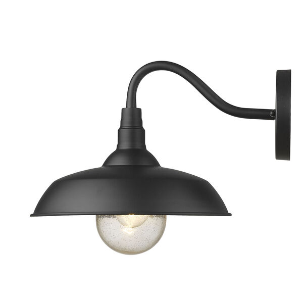 Burry Matte Black 14-Inch One-Light Outdoor Wall Sconce, image 3