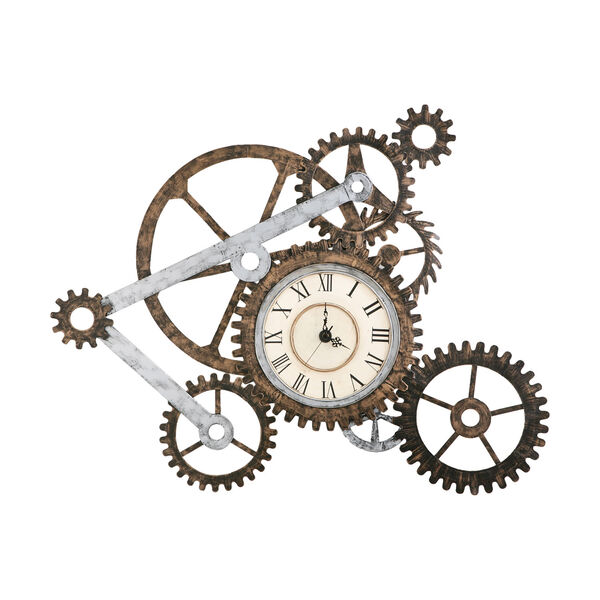 Multicolor Gear Wall Art with Clock, image 3