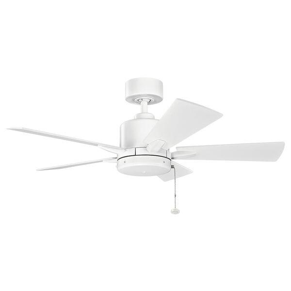 Bowen Matte White 42-Inch Ceiling Fan, image 1