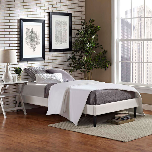 Tessie Twin Bed Frame with Squared Tapered Legs, image 6