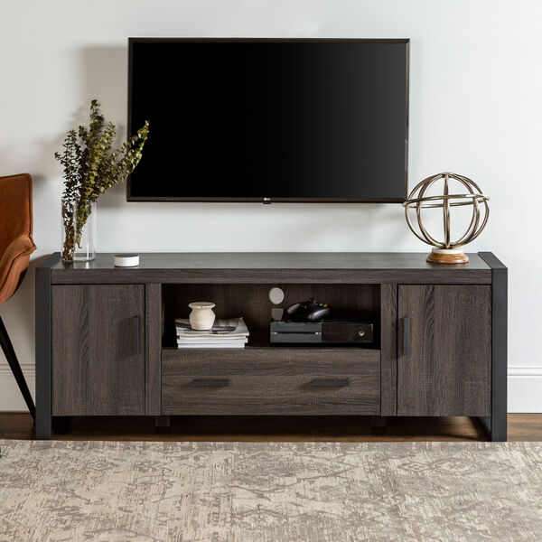 Urban Blend Charcoal 60-Inch TV Stand Console, image 1