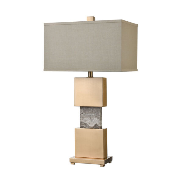 Aldern Cafe Bronze with Brown Stone One-Light Table Lamp, image 2