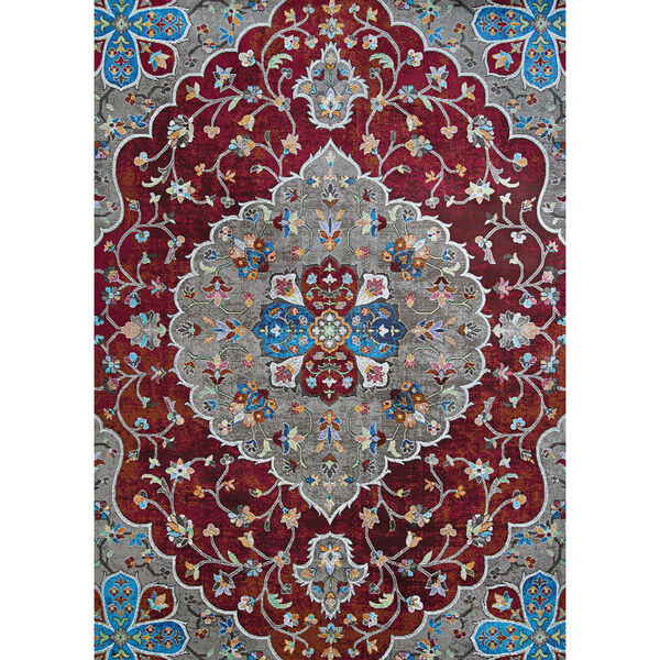 Gypsy Hafiz Antique Red Rectangular: 5 Ft. 3 In. x 7 Ft. 6 In. Rug, image 1