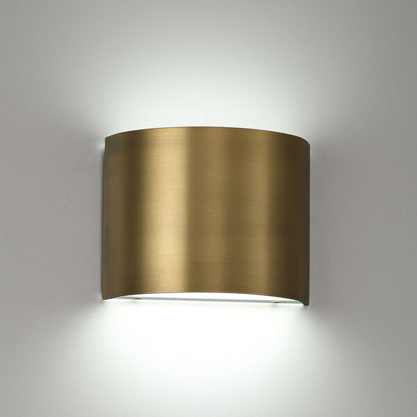 Pocket Aged Brass Three-Inch LED Wall Sconce, image 3