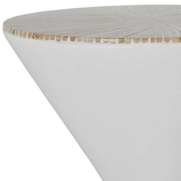 Essie Natural and White Accent Table, image 4