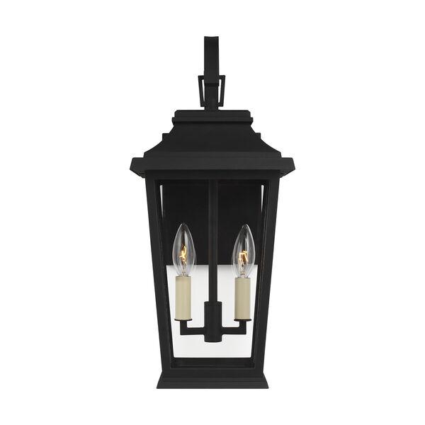 Warren Textured Black Two-Light Outdoor Wall Lantern, image 1
