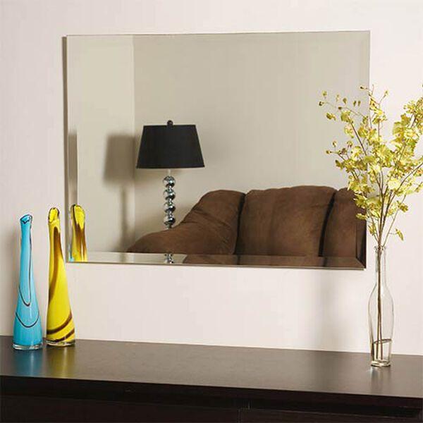 Frameless Square Beveled Mirror, image 3