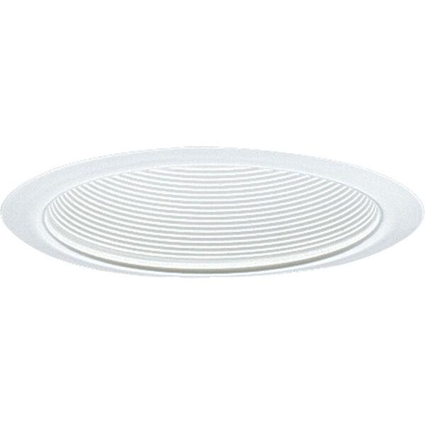 P8063-28:  6-Inch 120V White Incandescent Step Baffle Trim, image 1