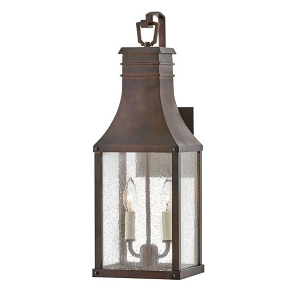 Beacon Hill Blackened Copper Two-Light 10-Inch Outdoor Wall Mount, image 1