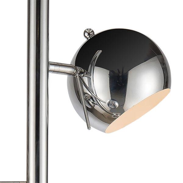 Meri Silver Chrome Three-Light Floor Lamp, image 4