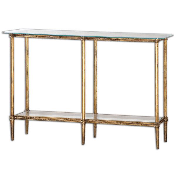 Elenio Bright Gold Console Table, image 1