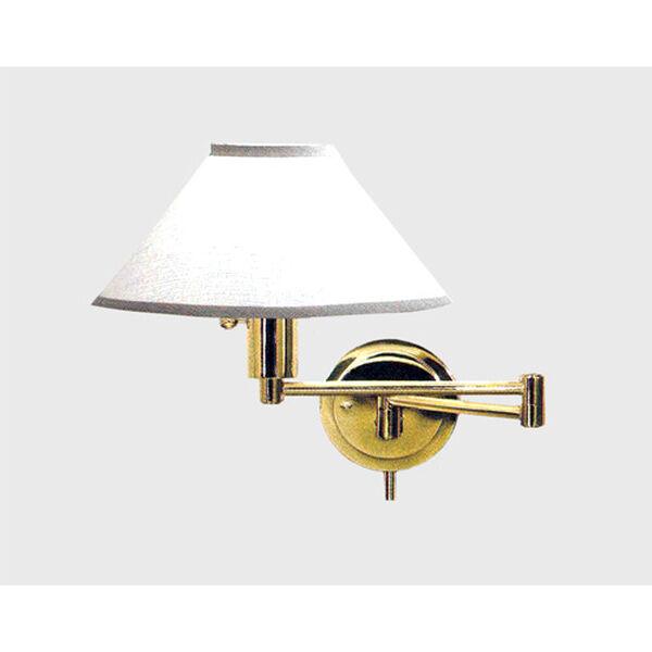 Polished Brass Wall Lamp, image 1