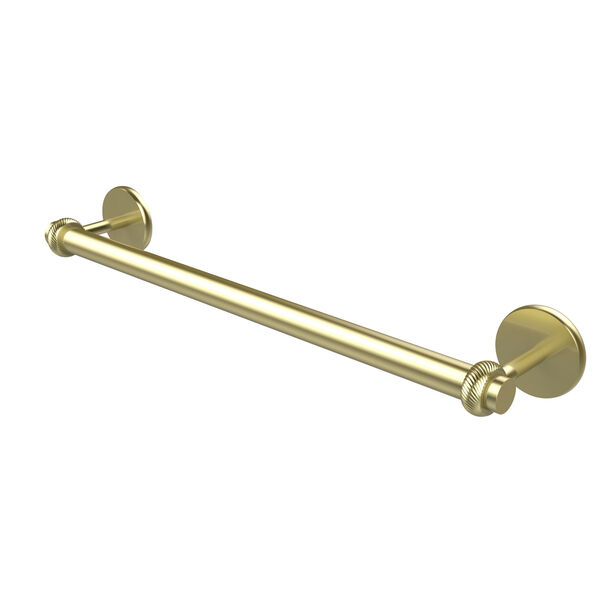 Satellite Orbit Two Collection 36 Inch Towel Bar with Twist Detail, Satin Brass, image 1