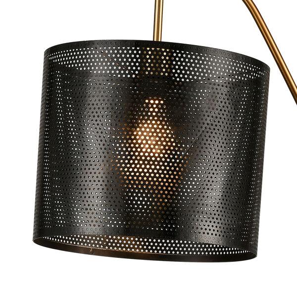 Decker Gold Aged Brass Black One-Light Floor Lamp, image 3
