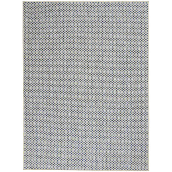 Courtyard Ivory and Blue 6 Ft. x 9 Ft. Rectangle Indoor/Outdoor Area Rug, image 2