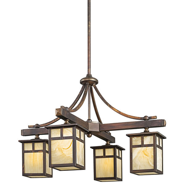 Alameda Canyon View Four-Light Outdoor Chandelier, image 1
