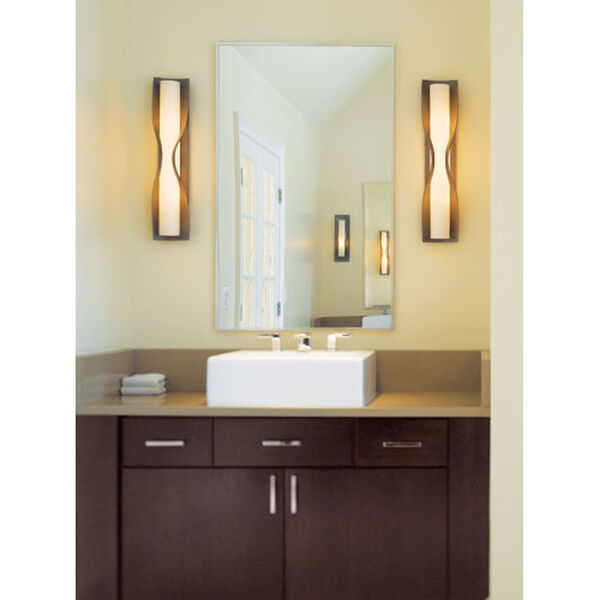 Dune Burnished Steel One Light Wall Sconce with Opal Glass, image 3