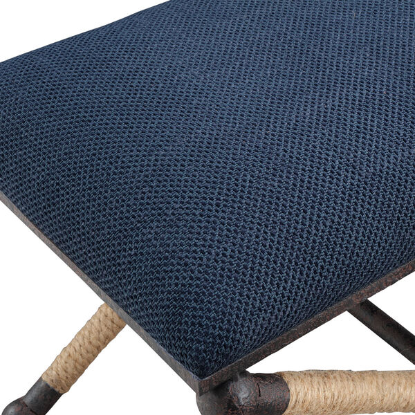 Firth Small Navy Blue Bench, image 5