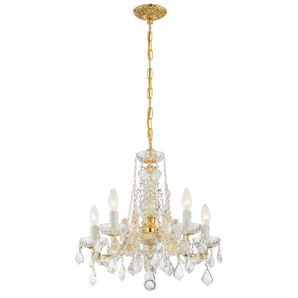 Maria Theresa Tall Five-Light Crystal Chandelier, image 6