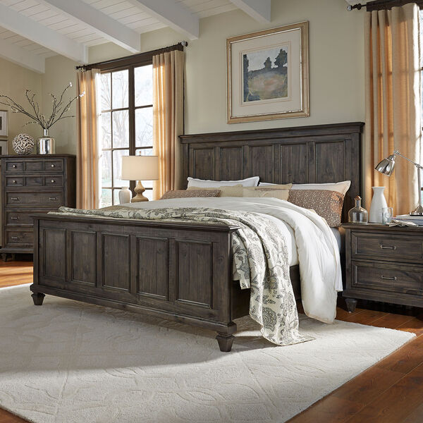 Calistoga King Panel Bed in Weathered Charcoal, image 4