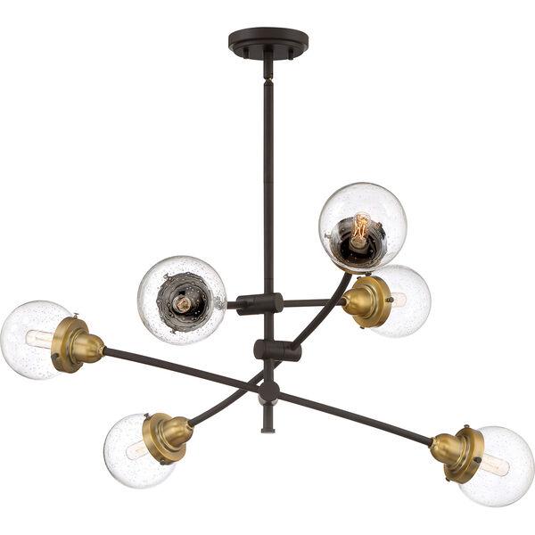 Nicollet Bronze Six-Light Chandelier, image 1