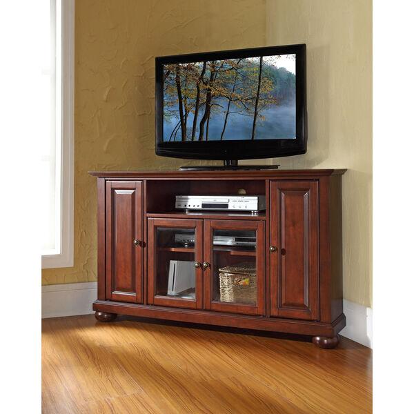 Alexandria 48-Inch Corner TV Stand in Vintage Mahogany Finish, image 5