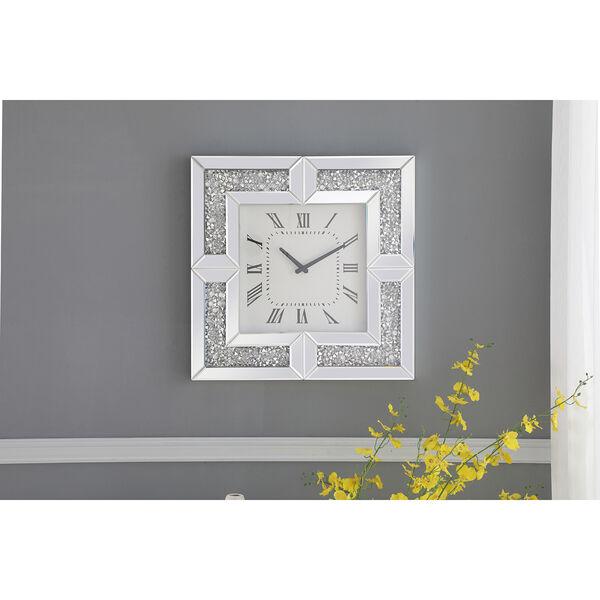 Modern Mirrored 10-Inch Crystal Wall Clock, image 3