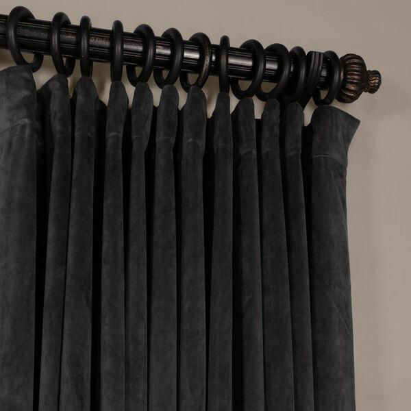 Gunmetal Gray 120 x 100-Inch Doublewide Blackout Velvet Curtain, image 2