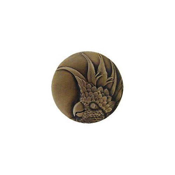 Antique Brass Small Cockatoo Knob-Right , image 1