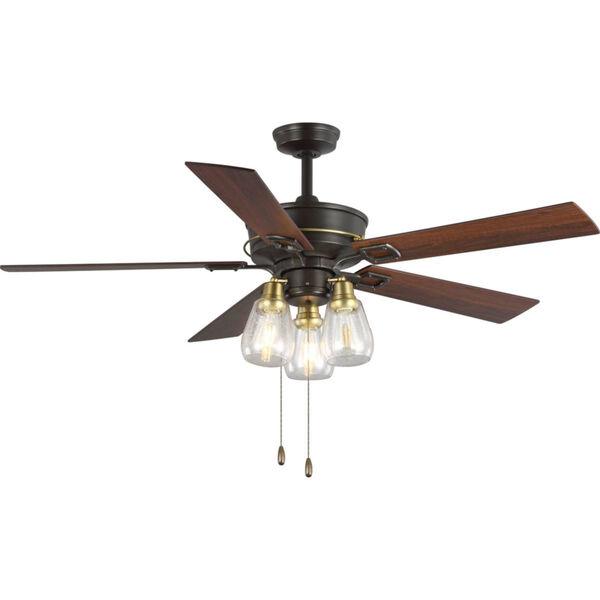 Teasley Bronze 56-Inch LED Three-Light Ceiling Fan, image 1