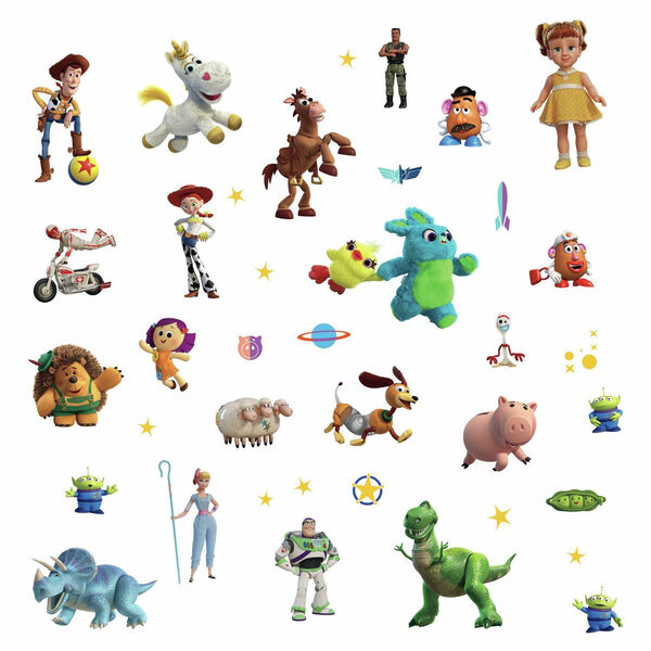 Toy Story 4 Green, Blue, Yellow Peel and Stick wall Decal - SAMPLE SWATCH ONLY, image 3
