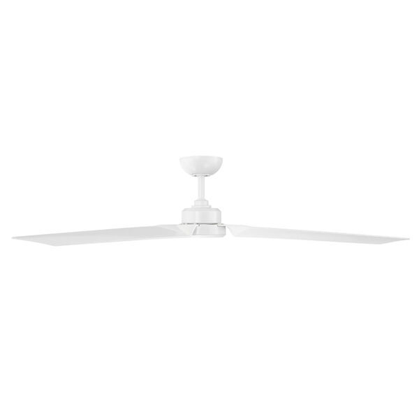 Roboto Matte White 62-Inch Downrod Ceiling Fans, image 2