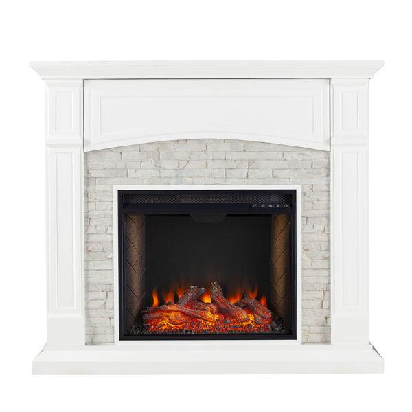 Seneca Crisp White Smart Media Electric Fireplace, image 4