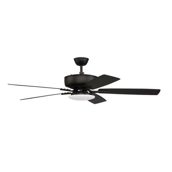 Pro Plus Flat Black 52-Inch LED Ceiling Fan, image 1