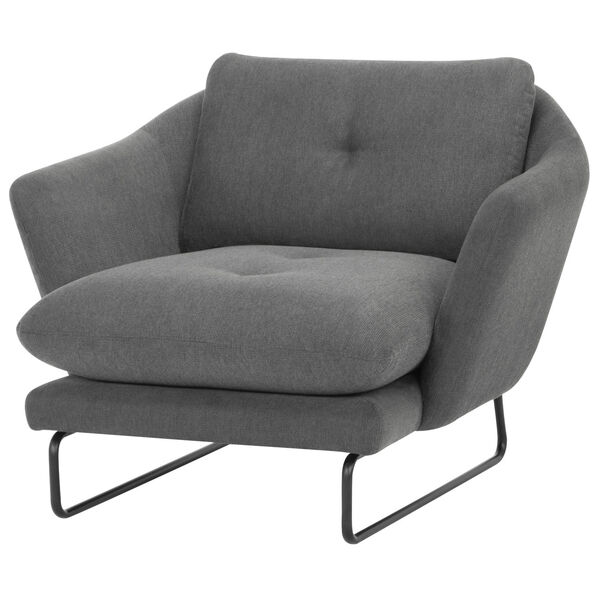 Frankie Graphite and Black Occasional Chair, image 2