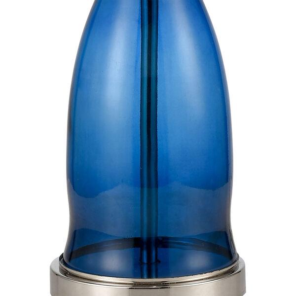 Drina Blue Polished Nickel One-Light Table Lamp, image 4