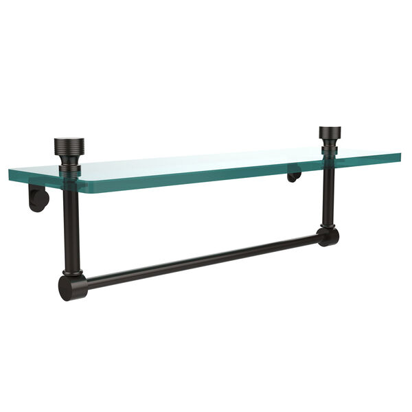 Oil Rubbed Bronze Single Shelf with Towel Bar, image 1