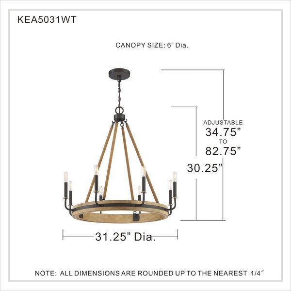 Kearney Western Bronze Eight-Light Chandelier, image 5