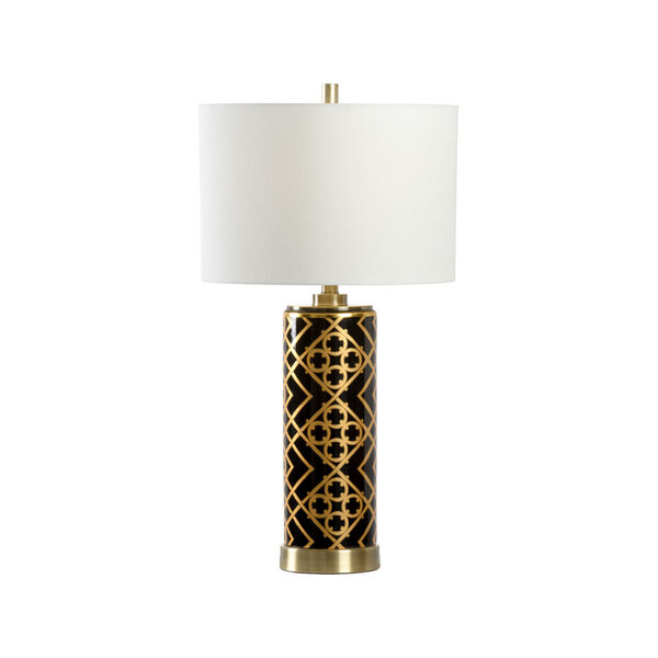 King Black and Metallic Gold One-Light Table Lamp, image 1