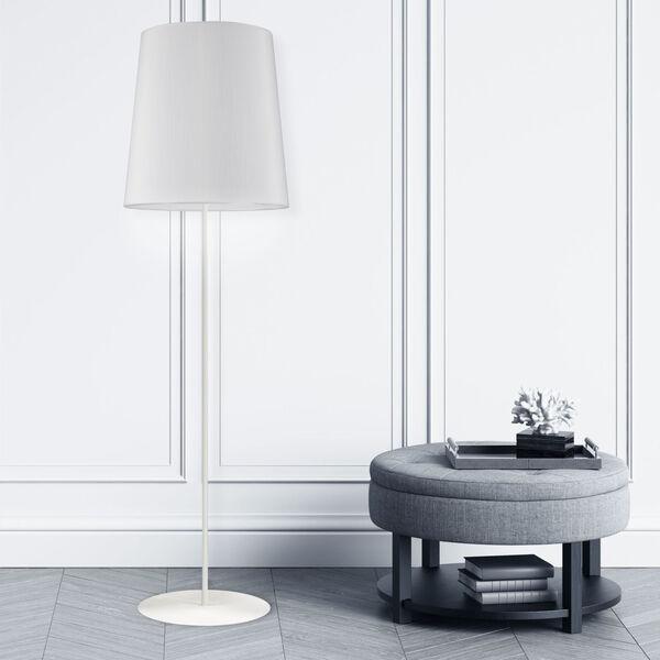 Matte White One-Light Minimalist Floor Lamp, image 2