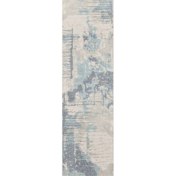 Illusions Abstract Blue Rectangular: 7 Ft. 6 In. x 9 Ft. 6 In. Rug, image 6