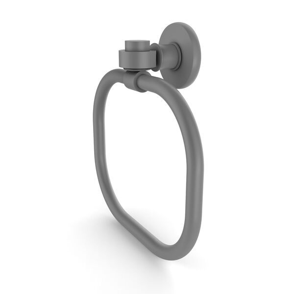 Continental Matte Gray Nine-Inch Towel Ring, image 1