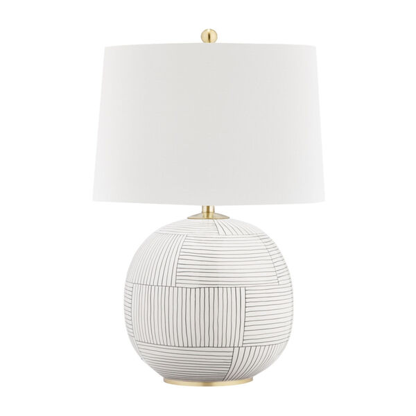Laurel Aged Brass Stripe Combo One-Light Accent Table Lamp, image 1
