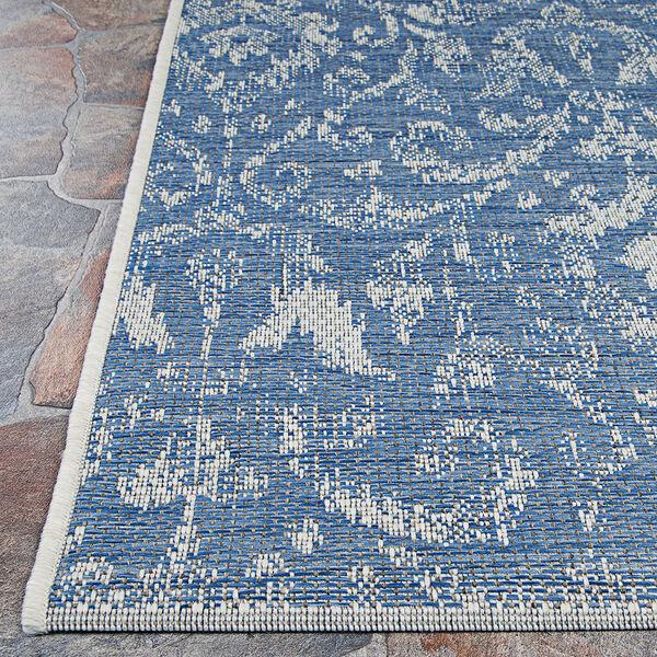 Marseille St. Marcel Blue Rectangular: 7 Ft. 6 In. x 10 Ft. 9 In. Indoor/Outdoor Rug, image 4