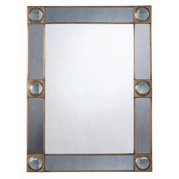 Baldwin Antique Brass and Glass Mirror, image 1