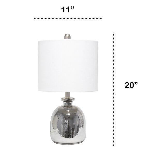 Cerise Metallic Gray White One-Light Table Lamp, image 3