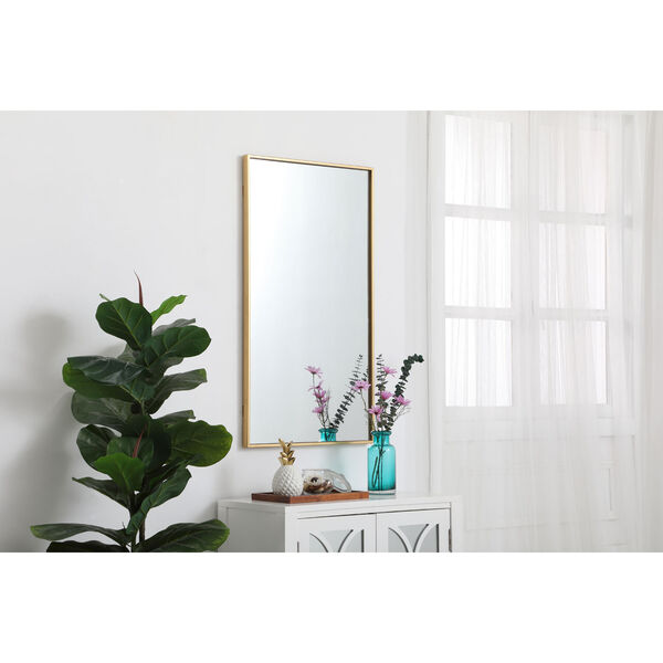 Eternity Brass 20-Inch Rectangular Mirror with Metal Frame, image 3
