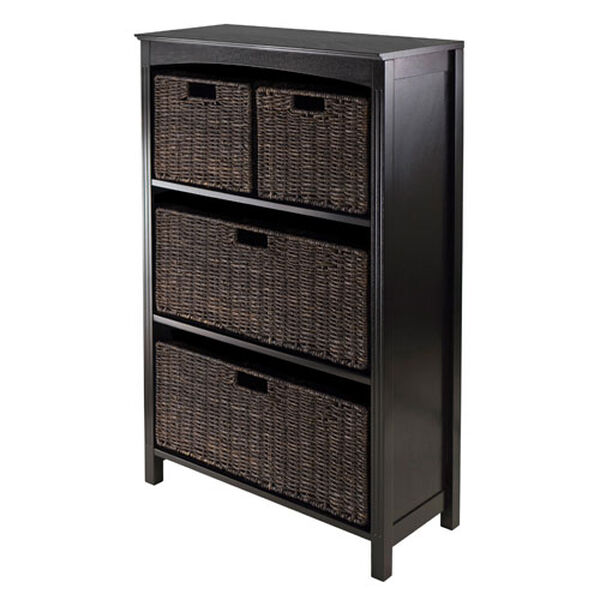 Terrace Storage Four-Tier Shelf, w/ Two Large and Two Small Baskets, Five Piece, image 1