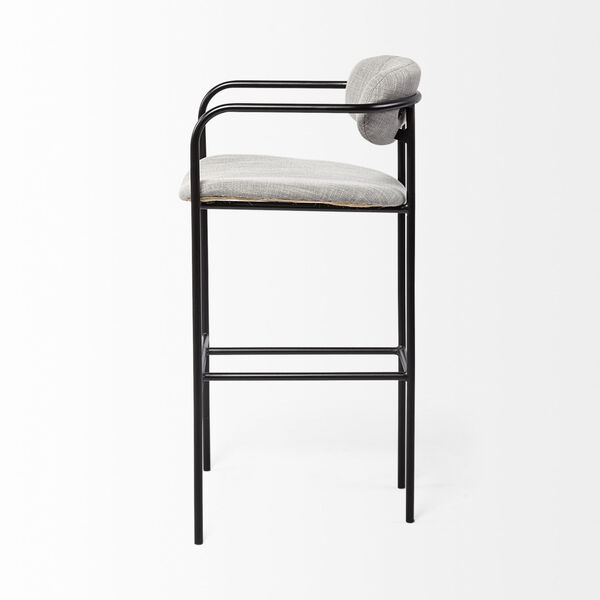 Parker Gray and Black Bar Height Stool, image 3
